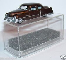 MICRO PRALINE HO 1/87 CADILLAC 54 CADDY LIMOUSINE MARRON FONCE METAL IN BOX 2