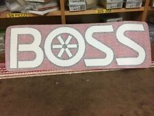 Boss Snow Plow Blade Decal Sticker Label 28 x  inches New Design Free Shipping