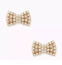 NEW Kate Spade New York Gold Sparkling Bow Stud Earrings ~ NWT
