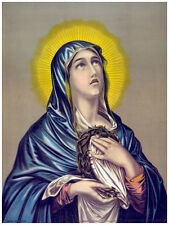 "16x20""Decoration CANVAS.Interior design.Room art.Virgin Mary crying.7301"