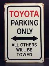 Toyota Parking Metal Sign / Vintage Garage Wall Decor (30 x 20cm)