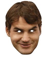 Roger Federer Celebrity 2d Tarjeta Partido Mascarilla Fancy Dress Up De Ping Pong Champion