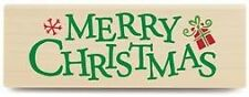 Stampabilities rubber stamp Christmas Merry MR1004