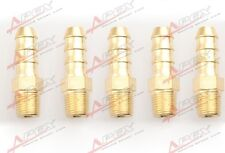"""5 pcs 6mm Male Brass Hose Barbs Barb to 1/8"""" NPT Pipe Male Thread"""