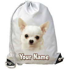 CHIHUAHUA DOG / PUPPY PERSONALISED GYM / SWIMMING / PE / DANCE BAG -GIFT & NAMED