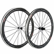 SUPERTEAM 50mm Carbon Clincher Wheelset Alloy Brake Line DT350 Road Bike Wheels