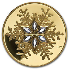 2006 Canada Proof Gold $300 Crystal Snowflake - SKU #58264