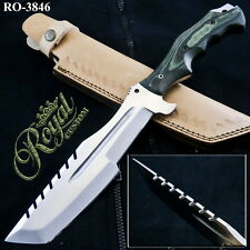 "13.5"" ROYAL CUSTOM FORGED D2 STEEL TRACKER KNIFE - BLOOD GROOVED - RO-3846"