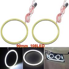 2x Car Headlight 90mm108LED SMD Angel Eyes Halo Ring Lights With Drivers For BWM