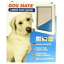 Lockable Large Dog Door  / Cat Flap For Upvc / Timber Door - White (216w)