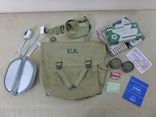 SET US ARMY M1936 MUSETTE BAG Kochgeschirr Essbesteck Rationen Handtuch