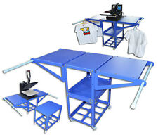 Screen Printing & Heat Press Machine Station Materials Rack Work Table Station