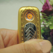 Windproof Golden Rechargeable USB Battery Cigarette Flameless Lighter No Gas