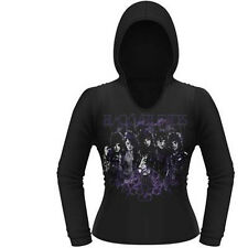 BLACK VEIL BRIDES RISE GIRLS LONG SLEEVE HOODED T SHIRT LARGE NEW OFFICAL