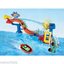 Hot Wheels Splashdown Station Track Set Play Set With 1 Vehicle New