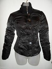 bebe S Logo Jacket Down Feather Black Snowbunny Puffer Spring Winter Coat Thick