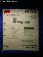 Sony Service Manual RM X12A CD Charger Commander  (#1101)