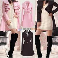 Stylish Slim Womens WOOL Warm Long Coat Jacket Trench Windbreaker Parka Outwear