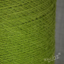 Pur shetland tissage laine leaf green 3 ply 500g cône fil twist simple pli 8s