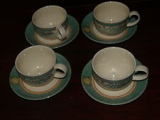 JOHNSON BROS OZARK CUP AND SAUCERS X 4.