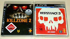 2 PLAYSTATION 3 SPIELE SET - KILLZONE 2 & RESISTANCE 3 - PS3