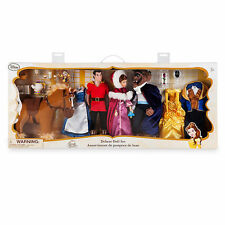 Disney BEAUTY AND THE BEAST Deluxe Doll Set w/GASTON & PHILLIPPE - 25TH ANNIV.