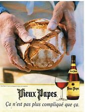 Publicité Advertising 1997 Le Vin de table Vieux papes
