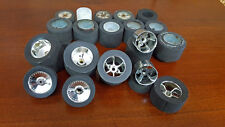 Vintage Associated RC12E Pan car wheels and tires 1/12 + tire truer