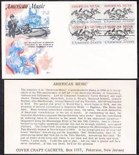 AMERICAN MUSIC Stamp 1252 Block of 4 Cover Craft Fiirst Day Cover FDC