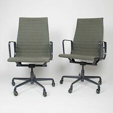 Eames Herman Miller Fabric High Executive Aluminum Group Desk Chairs (6 avail)