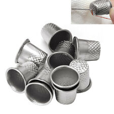10PCS Dressmakers Metal Finger Thimble Protector Sewing Neddle Shield