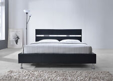 4FT6 FAUX LEATHER ELIO  BED WITH MEMORY AND REFLEX MATTRESS LIMITED STOCK