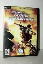 AMERICA'S SECRET OPERATIONS GIOCO USATO PC CD ROM ITALIANO GD1 36937