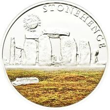 Palau 2010 5$  World of Wonders Stonehenge Silver Coin LIMIT 2500 !!!