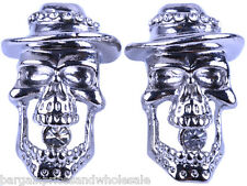 Punk Style Vintage Skeleton Skull Gothic Bling Party Stud Earring  Earring