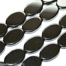 MAGNETIC HEMATITE BEADS FLAT OVAL BEADS 13X18X4MM MH70