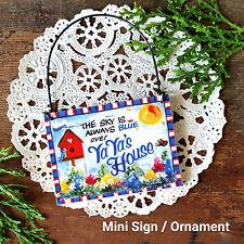 DECO Mini SIGN  Gift Decoration YAYA  ya ya  Wooden Ornament Happy Family USA