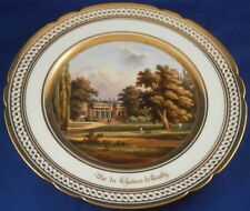 Antique Porcelain de Paris Named Scene Scenic Plate Porcelaine Assiette Vieux #3