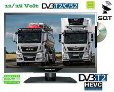 LED TV 15.6 Zoll 39,6cm Fernseher DVD-Player DVB- C/S2/T2 12 / 24V /230 Volt LKW