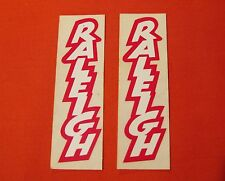 PAIR VINTAGE ORIGINAL RALEIGH BICYCLE FRAME STICKER / DECALS NEW OLD STOCK N.O.S