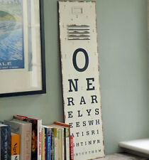 Metal antique style opthalmology opticians letter chart print