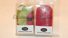 Deluxe Contact Lens Case with Mirror Lot of 2 Random Color Pattern ZZ