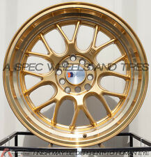 17X8.5 F1R F21 WHEEL 5x100/114.3 +35 GOLD RIM FITS ACCORD CIVIC CELICA MATRIX
