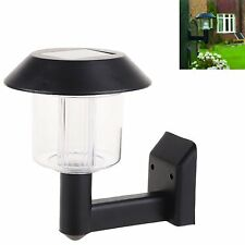 Solar Power LED Wall Mounted Garden Light Outdoor Waterproof Pathway Decor Lamp