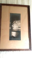Vintage Framed Panoramic Photo of St. Lawrence River Thousand Islands