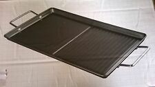 Griddle Plate Grill 26 x 56cm Dual Hob Top  Argos Living Brand New  RRP 19.99