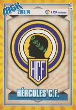N°431 ESCUDO BADGE ECUSSON SCUDETTO # HERCULES.CF CARD PANINI MGK LIGA 2014