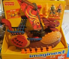 Imaginext Castle Dragon World Fortress Serpent Pirate Ship 2009 New Box Set Toy