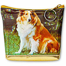 Universal Purse Bag Shetland Sheepdog Dog in Grass 3D Lenticular #TP-220-PAVIA#