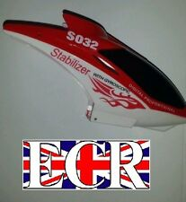 SYMA S032G S032 RC HELICOPTER SPARES PARTS HEAD CANOPY COVER BODY RED
